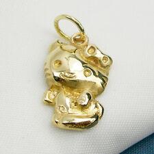 Hello Kitty Cute Cat Animal Charm Pendant Genuine 375 9k 9ct Yellow Gold - C261