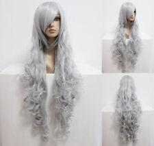 Graue gelockte Perücken & Haarteile aus Kunsthaar-Kunst