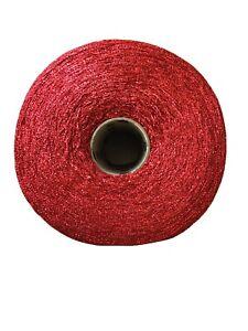 600g Cone Of Twilleys Goldfingering Metallic Crochet & Knitting Yarn. Shade Red