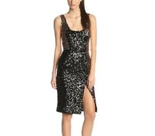 French Connection Cosmic Sparkle Gold Bodycon Cocktail Party Wedding Dress 12 40