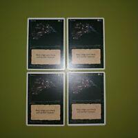 Terror x4 Fourth Edition 4th Magic the Gathering MTG 4x Playset