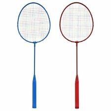 Badminton Rackets, 24.25 in. SET OF 2 RED AND BLUE NET