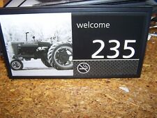 HAMPTON INN PICTURED HOTEL - MOTEL ROOM NUMBERS #235 OLD FARMALL TRACTOR NICE!
