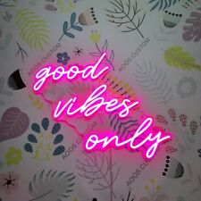 AOOS CUSTOM Good Vibes Only Dimmable LED Neon Light Signs For Wall Decor