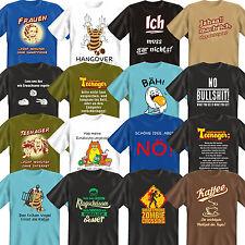 lustige bedruckte Sprüche T-Shirts zum Fasching Karneval  Geburtstagsgeschenke