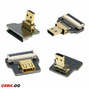 FPV Micro HDMI Type D Male Female Angled 90 Degree for Aerial Photography
