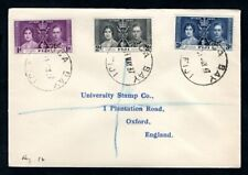 Fiji - 1937 KGVI Coronation Registered First Day Cover