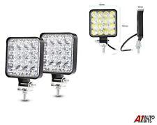 2x 48W Led Powerful Front Bull Nudge Bar Slim Spot Lights Day Lamp Car Suv 4x4