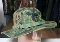 US Tactical USMC Mens Boonie Hat Military Digital Woodland Camo S