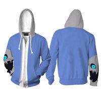 Men Women Undertale Sans Cosplay Costume Anime Zip Hoodie Jacket Coat Sweatshirt
