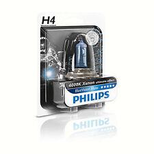 Lámpara Philips P43t 12v 60/55w H4 Visión Azul MOTO EFECTO 30% Más Luz