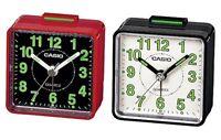 Casio TQ140 Travel Quartz Beep Alarm Clock -Black/White Red/Black  - Genuine New