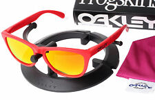 New Oakley B1B Red Frogskins Sunglasses with Custom Fire Orange Polarized Lenses