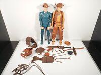 Vintage Marx Cowboy Figure LOT Johnny West 1973 w/ Accesories Wild West Figures
