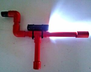 Red Marshmallow PVC Shooter w/ LCD Flashlight Shoots Mini Mallows