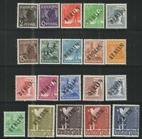 Germany - Deutsche Post Berlin 1948 Sc# 9N1-9N20 MNH/HR VG/F - Complete Ovpt set