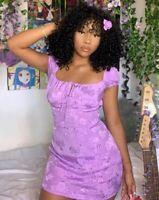 Gaval Mini Dress in Satin Rose Lilac by Motel Size XXS