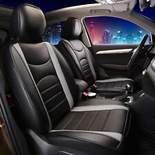 NeoBlend Leatherette Seat Cushions Gray Black Pair Auto Car SUV