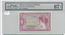 MPC Series 641  1 Dollar  3rd  printing  PMG 67EPQ   SUPERB GEM  UNC