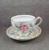 Vintage Royal Chelsea Japanese Flowers English Bone China Tea Cup and Saucer Set