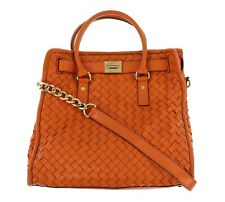 Michael Kors 165342 Womens Hamilton Woven Large North/South Tote Bag Persimmon