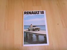 FOLLETO de auto 1979 Renault 18