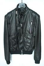 SS07 DIOR HOMME Black Leather Biker Bomber Jacket 44 Hedi Slimane RARE XS