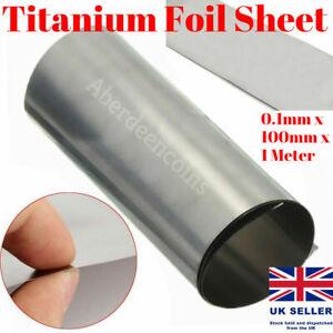 Titanium Ti Thin Plate Sheet Foil Ta1 0.1mmx100mmx1000mm Metalworking Supplies