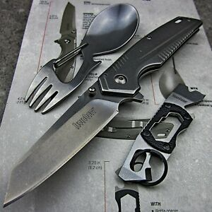 Kershaw Assisted Opening Pocket Knife Eating Tool and Multi-Tool Three Piece Set