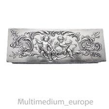 Jugendstil Silber Dose Schnupftabak silver box Engel Putten Schatulle 🌺🌺🌺🌺🌺