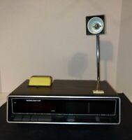 Vintage Rare Worldstar AM/FM Alarm Clock Radio With Reading Light Great Cond
