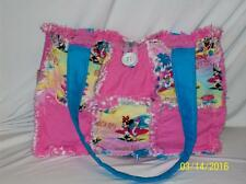 Minnie Mouse Summer Spring Pink Adorable Rag Quilt DiaperBag Tote Purse Handmade