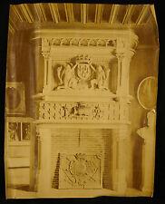 Chenminée du château de Blois blason de Louis XII & Anne de Beratgne photo c1900