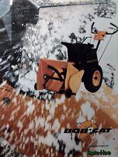 Bobcat 5 8 10 Hp Roto Hoe Walk Behind Snow Thrower Blower Sales Brochure Catalog