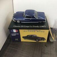 CITROEN DS COUPE LE DANDY MODEL CAR 1:43 SCALE BLUE 1967 CLASSIC ATLAS NOREV K8