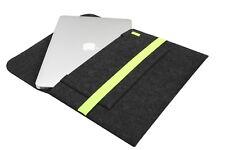 """MacBook Air 13,3"""" Filztasche grau gelb Sleeve Cover Laptoptasche Case Filz Hülle"""