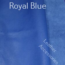 high quality ROYAL BLUE leather offcut  20cm x 30cm crafts * patch repair