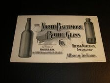 Circa 1890 North Baltimore Bottle Glass Co Blotter, Albany, Indiana