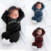 Newborn Infant Baby Boy Girl Button Letter Romper Jumpsuit Playsuit Clothes