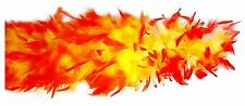 Yellow and Red Feather Boa 70 Weight Red Yellow Boa Ideal For Hogan Costume