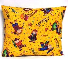 Toddler Pillow for Children & Crayons on Yellow 100%Cotton #S6 Handmade