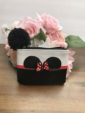 Loungefly Disney Minnie Mouse Coin Purse with Pom Pom Zipper New With Tags
