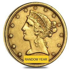 $5 Gold Half Eagle Liberty Head - Extra Fine XF (Random Year)