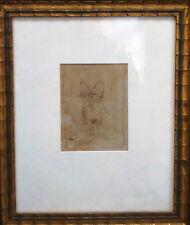 portrait chien cairn terrier, dessin crayon, original encadré