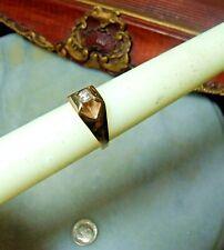 Ct Vs Size 10 & 9.5 Ring Vintage 14k Gold Heavy Men's Diamond 1/3