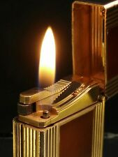 Vintage Genuine S T DuPont Ligne 1 Small Lighter  Chinese Lacquer Gold VGC #71