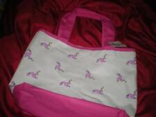 """TROPICAL SUMMER """"MAGID"""" PINK FLAMINGO PINK and CREAM PURSE with PINK STRAPS"""