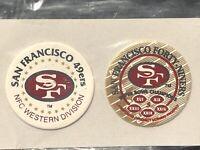 San Francisco 49ers Milkcaps 1995 Super Bowl And NFC Division Winners