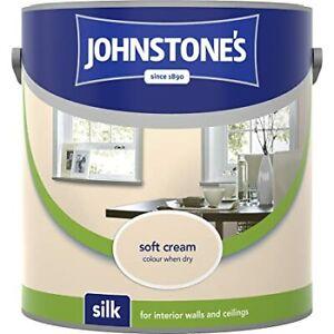 Johnstone's Silk Paint 2.5 Litre VARIOUS COLOURS For Interior Walls & Ceilings