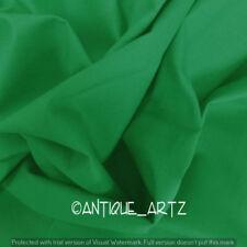 5 Yard Indian Plain Green Fabric 100% Cotton Light Weight New Sanganeri Fabric